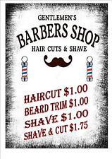 American Vintage Style Barber Shop Signo Barbero signo de estilo Retro Signo de cocina