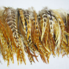 New Fashion Natura Color 40Pcs Grizzly Feathers hair for extensions 6-8inch long