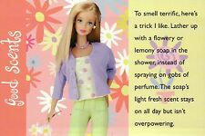 """"""" Flowery Soap """" -- Fashion Collectible Photo Card Mattel - Barbie Doll Postcard"""