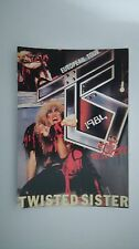 Twisted Sister European Tour 1984 still hungry vintage music postcard POST CARD