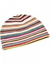 BNWT Paul Smith PS signature Multi Striped ITALIAN Beanie wool Hat gift RRP 69