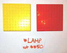 1970s 1980s ? Vintage LEGO 10x10 stud Red Yellow Base Plate Brick 733 Duplo lot