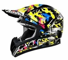AIROH CASCO CR901 ROOKIE LUCIDO NERO GIALLO HELMET MOTORCYCLE CROSS ENDURO TG M