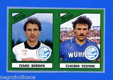 CALCIATORI PANINI 1987-88 - Figurina-Sticker n. 353 -BORDON#TESTON- BRESCIA -Rec