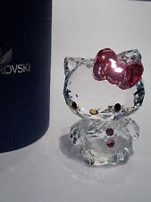 Swarovski-hello kitty noeud rose-mint-brand new in box + swarovski sac cadeau