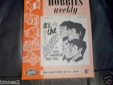 THE BEATLES HOBBIES WEEKLY MARQUETRY POP PIC  BOOK GENUINE MARCH 1964 ISSUE.