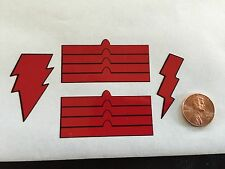 Custom Shazam Decals 003 Red 1/6 Scale Decals Free Shipping! Die Cut!