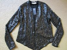 WOMENS ABERCROMBIE & FITCH A&F SEQUINED SPARKLE COVER UP Blazer Jacket XSMALL