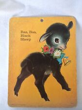 Vintage Children's Puzzle Baa Baa Black Sheep
