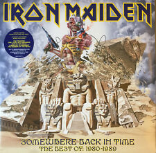 """IRON MAIDEN """"SOMEWHERE BACK IN TIME-THE BEST OF 1980-89 """" VINYL DOUBLE LP NEW"""