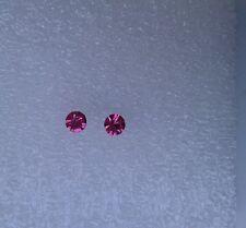 Orecchini cristallo in rosa 4mm