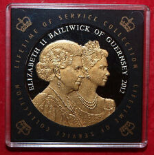 2012 Guernsey Diamond Jubilee Proof £5 Five Pound Crown Coin-Lifetime of Service