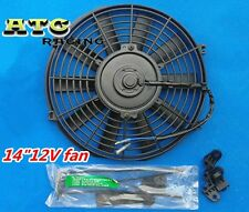 """14"""" inch electric universal auto cooling radiator fan hot rad mounting kit"""