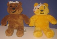 Build-A-Bear UK 1st Edition PUDSEY and BLUSH CHILDREN IN NEED Used TEDDY BBC