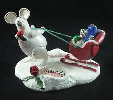 Christmas Blue Sky Clayworks 2004 Santa's Try Outs Mouse T-Lite Candle Holder