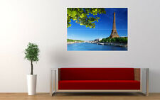 EIFFEL TOWER SEINE RIVER NEW GIANT LARGE ART PRINT POSTER PICTURE WALL