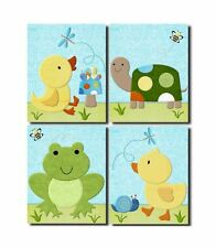 In The Pond ducks & turtles neutral WALL ART FOR NURSERY decor for baby's room