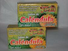 2 PACK)) JABON CALENDULA/MARIGOLD SOAP-HEAL SKIN,ACNE,BURNS,BRUISES,CUTS,ULCERS
