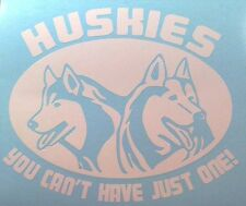Huskies, you can't have just one!  Vinyl decal