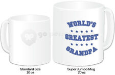 Personalised Jumbo Giant 20oz Mug- Worlds Greatest Grandpa Design- Any Name