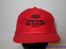 Vintage 1980s 1990s GREASE MONKEY Car Oil Change RED ADVERTISING Rope CAP HAT