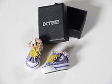 Ixtee violet sneakers high Converse for Blythe Pullip Tiny bjd foot length 3cm