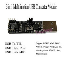 3 in1 5V 3.3V Serial Converter Board USB To RS485 RS232 TTL Serial Module CP2102
