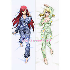 Fairy Tail Dakimakura Erza Scarlet Lucy Anime Hugging Body Pillow Case Cover