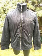 Esprit ** homme noir fermeture éclair veste manteau xl free uk post