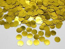 2000 Golden Flat Round loose sequins Paillettes Top Hole 10mm sewing Wedding