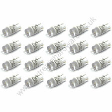 20 x White 5v 10mm T10 Wedge Base LED Bulbs for Arcade Push Buttons - MAME