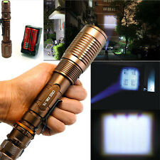 5000 Lumen Zoomable CREE XML T6 LED 18650 Flashlight Focus Torch+Battery+Charger