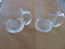 TWO CLEAR STARBUCKS COFFEE MUGS MERMAID ETCHED DESIGN GREAT SHAPE