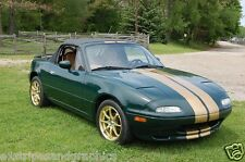 "All Year Mazda Miata MX5 8"" Plain Rally stripes Stripe Graphics Fit all Models"