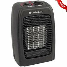 Comfort Zone Ceramic Space Heater Electric 1500W Compact Thermostat Room Fan NEW