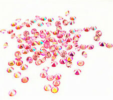 500Pc Rose AB Birthstone Crystal  Floating Charm for Glass Living Memory Locket