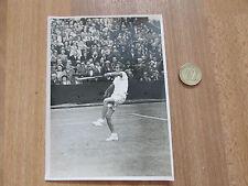 No identificado 1940 / 1950 Macho Jugador De Tenis Match acción Foto Original # 7