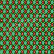 Fabric Owl Be Home for Christmas Argyle on Cotton by the 1 Yard