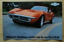 CHEVROLET CORVETTE STINGRAY orig 1972 USA Mkt Large Format Brochure Poster