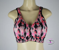 NWT Victoria's Secret VSX ZIPPERED Sport Fitness Yoga Bra 34DDD  AA200A