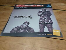 CHRIS BROWN & TYGA !!FAN!!! FRENCH DISPLAY !!PLV 30 X 30 CM !!!!!!!!!!!!!!!!!!