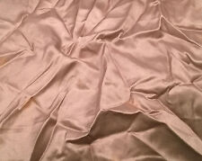 "Silk/Cotton SATIN SATEEN Fabric DUSTY PINK 4""x40"" remnant"