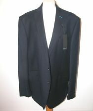 NEW WITH TAGS 'AUTOGRAPHIC' CLASSIC WOOL & COTTON TAILORED  JACKET - NAVY- 46L