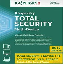 Kaspersky Total Security, 3 Device 1 Yr For All Win, MAC, Android - License Key