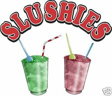 Slushie Drinks Cold Treats Food Truck Concession Menu Sign Decal Sticker 14""