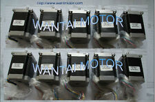 【Free shipping 】10PCS NEMA23 STEPPER MOTOR 270OZ-IN,3A,4Lead