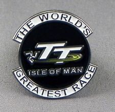 Metal Enamel Pin Badge Brooch TT Isle of Man The Worlds Greatest Race Motorbike