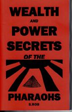 WEALTH AND POWER SECRETS OF THE PHARAOHS book Egyptian Magick occult S. Rob