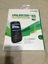 Cricket paygo Phone Samsung Comment 3 No Contract.