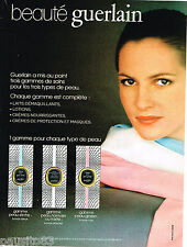 PUBLICITE ADVERTISING 055  1978  GUERLAIN   beauté  cremes tous types de peau